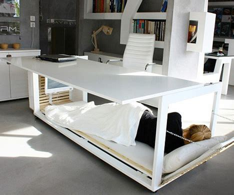 napping desk sluggish after lunch take a nap in this transforming desk