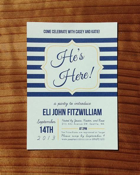 He S Here Baby Shower Meet And Greet Invitation Meet The Baby Invitation Templates