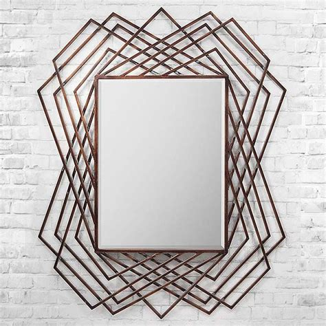 copper wall mirror uk copper geometric wall mirror