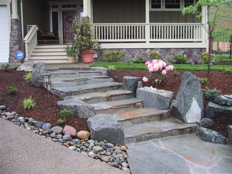 Ideas For Small Bathrooms Makeover mortared stone steps traditional landscape seattle