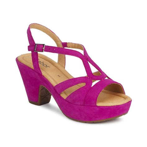 fuschia sandals sandals gabor junigue fuschia free delivery with spartoo