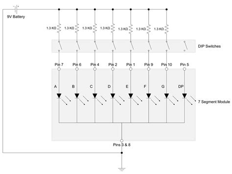 led resistor calculator 7 segment driving a 7 segment display with a 4511 bcd to 7 segment driver protostack