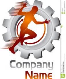 moving gear human logo stock photography image 31899632