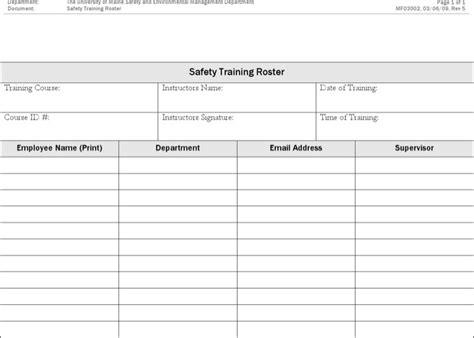 training roster templates download free premium