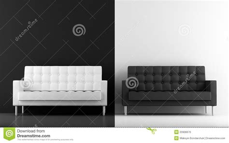 Black And White Armchairs Black And White Couches Stock Photo Image 20906670