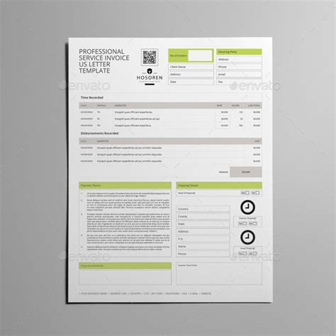 invoice letter template for professional services professional service invoice us letter template by keboto
