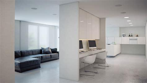 minimalist workspace a minimalist modern apartment in white
