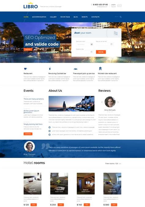 hotel template free 70 best hotel website templates free premium