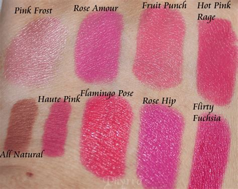milani color statement lipstick swatches milani color statement pinks corals lipsticks