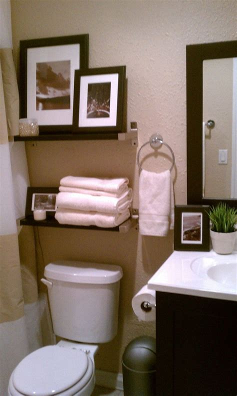 small bathroom decorative storage above toulet bathroom
