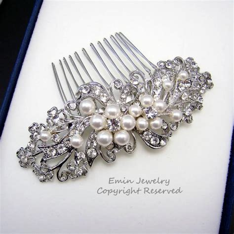Vintage Style Wedding Hair Pieces by Wedding Hair Accessories Bridal Hair Combs Pearl