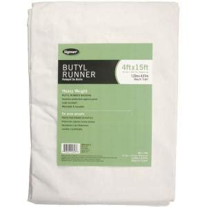 sigman 3 ft 9 in x 14 ft 9 in butyl drop cloth runner