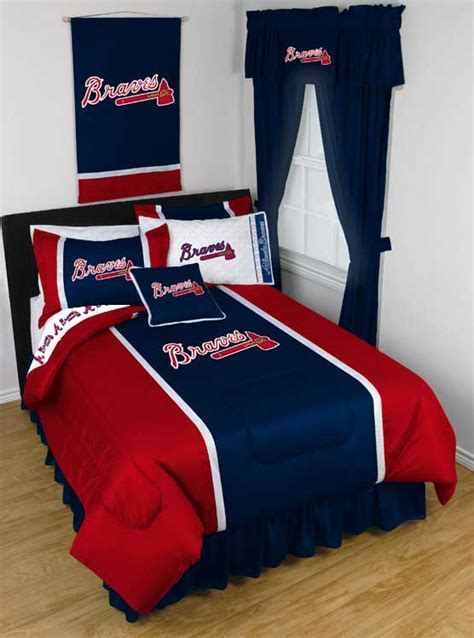 atlanta braves comforter mlb atlanta braves queen full comforter set 3pc baseball