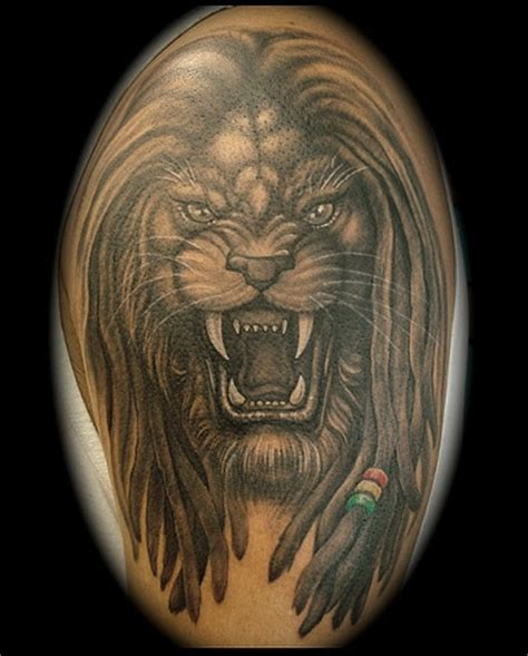 lion with dreads tattoo crucial studio maryland custom tattoos