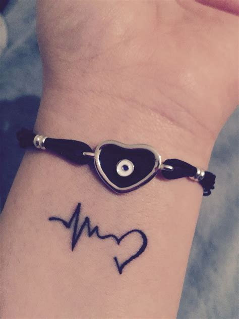 heartbeat tattoos heartbeat wrist designs ideas and meaning