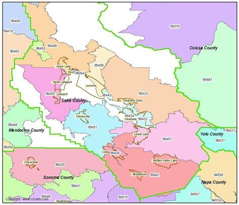 lake county map lake county ca zip codes clearlake ca zip code