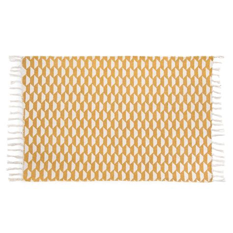 Cotton Doormat Deal Mustard Cotton Mat 60x90cm Maisons Du Monde