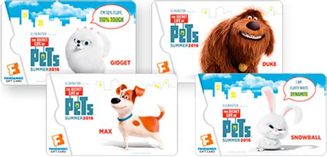 Can You Buy Food With A Fandango Gift Card - the secret life of pets 50 fandago gift card giveaway