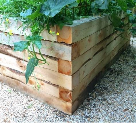 Landscape Timbers Vs 4x4 18 Best Images About Juniper Raised Garden Beds On
