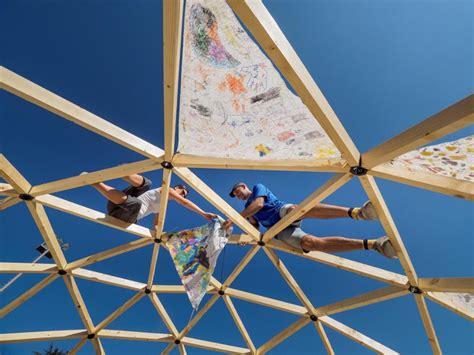 cupole geodetiche bioedilizia come si costruisce una cupola geodetica