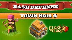 Clash of clans best base defense town hall 6 1350 trophies