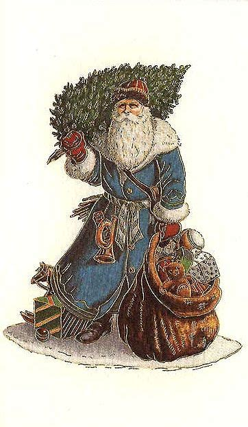 traditional santa claus card   italy  rossi christmas paintings beautiful christmas