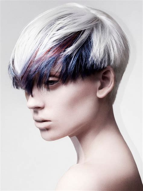 short hairstyles with dyed hair crazy short hairstyles for women