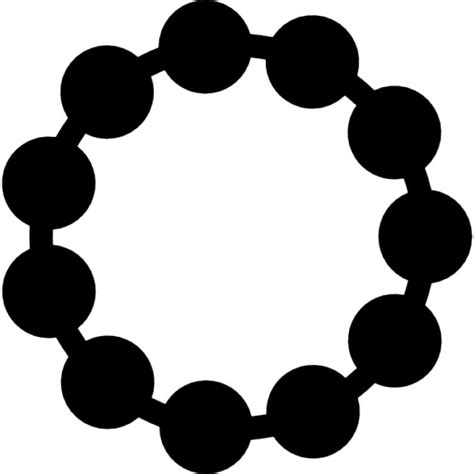 Jewelrys Silhouette Circle To Remind You Of Whats Important by Necklace Of Black Pearls Of Circular Shape Icons