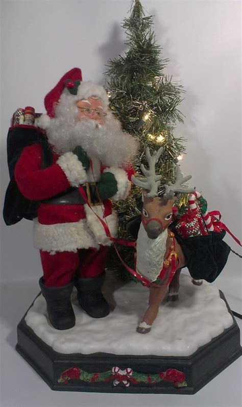 santa claus animated motionette reindeer tree  smile  rare animated christmas santa