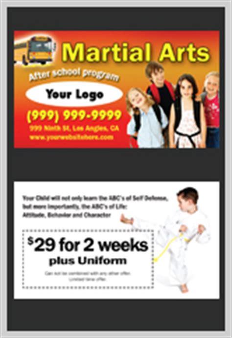 martial arts business card templates martial arts flyers