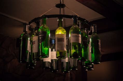 Wine Bottle Light Fixtures Wine Bottle Chandelier For Wine Enthusiast Light Lighting
