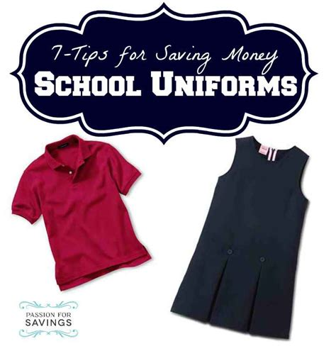 7 Tips On Saving Money On Clothes by 7 Tips For How To Save On Back To School Uniforms