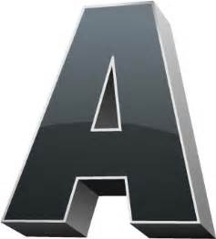 3d alphabet letter vectors