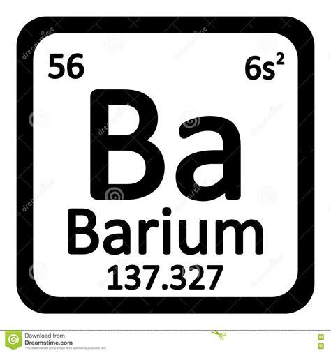 Periodic Table Ba by Periodic Table Element Barium Icon Stock Illustration