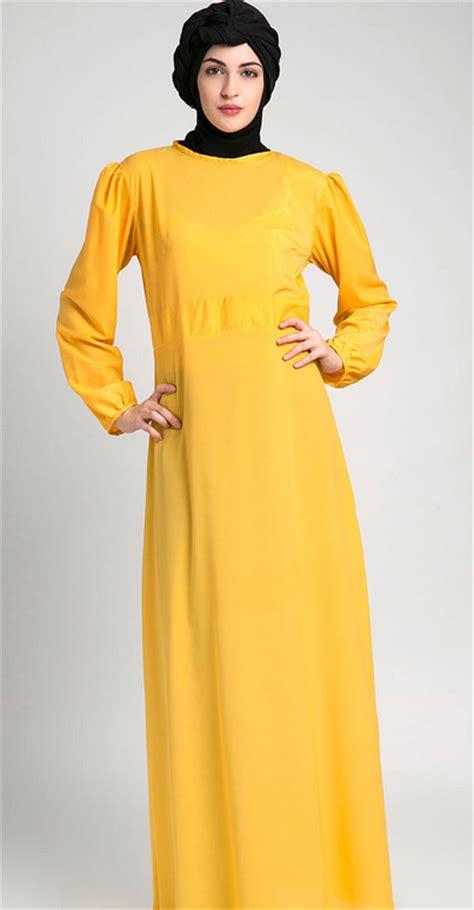 Gamis Polos Wanita Biru Tosca Tua model baju lebaran untuk wanita gemuk info makkah berita haji