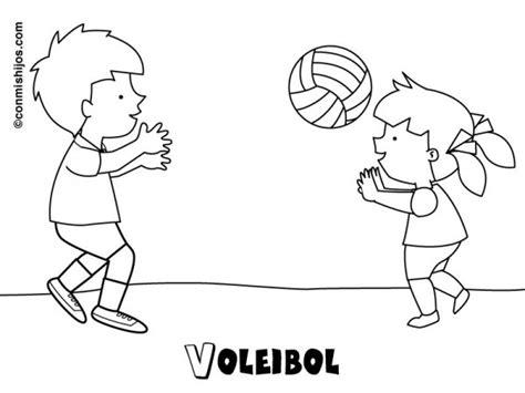 imagenes de niños jugando volibol im 225 genes para pintar de voleibol colorear im 225 genes
