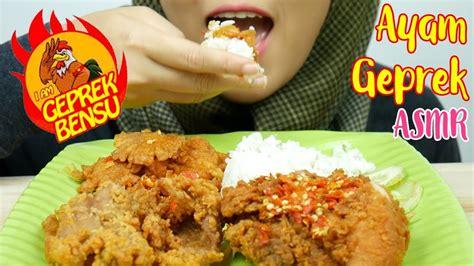 request asmr eating sounds ayam geprek bensu