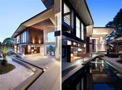 gallery of glass house mountains house bark design glass house mountain house by bark design in maleny australia