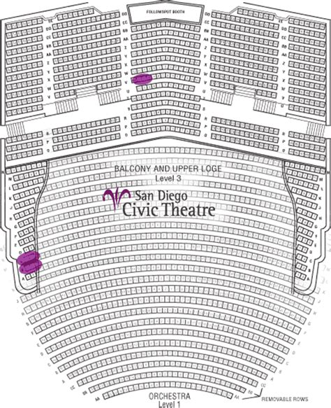 san diego civic theater seating chart 07 08 broadway san diego season tickets