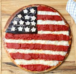 american flag pizza america s table