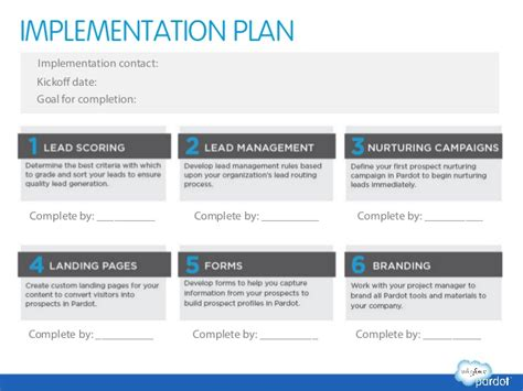 policy implementation plan template marketing automation success planning template