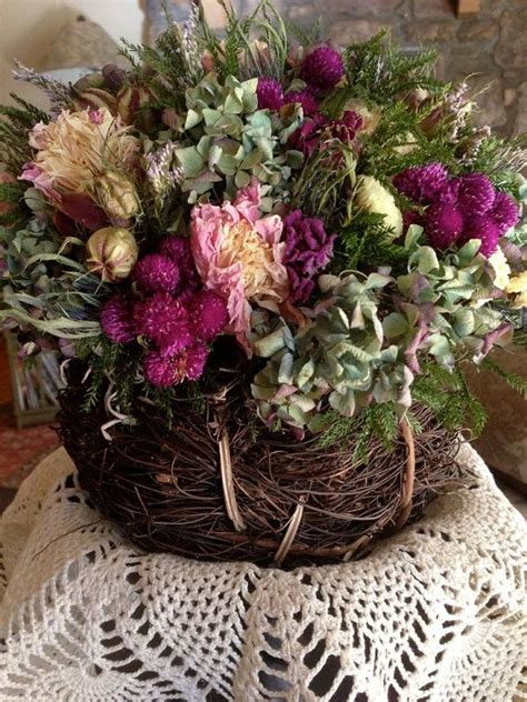dried flower arrangements centerpieces dried flower arrangement rustic