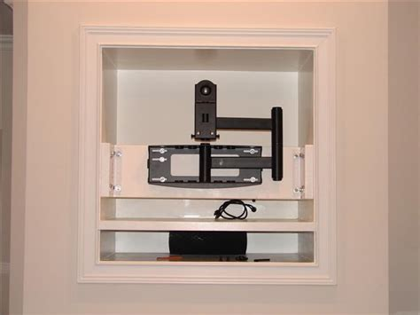 Fireplace Nook Tv Mount has anyone framed up studs in a tv niche to mount a plasma lcd avs forum home theater