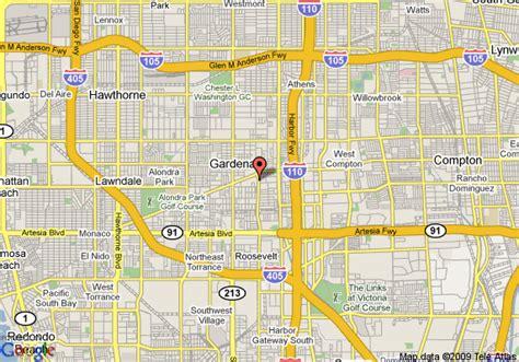 Gardena Ca On A Map Gardena California Map California Map