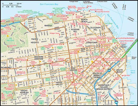 san francisco downtown map printable san francisco map guide to san francisco california