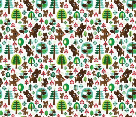 wallpaper christmas material retro reindeer christmas fabric pattern wallpaper