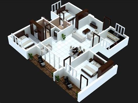 three room home design news 3 bedroom apartment house plans youtube