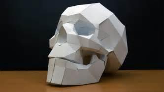 Paper Craft Skull - papercraft skull timelapse