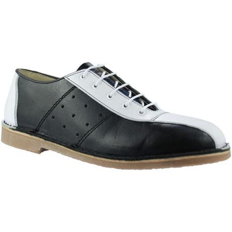 mod shoes bowling shoes black and white ikon 02 mod shoes