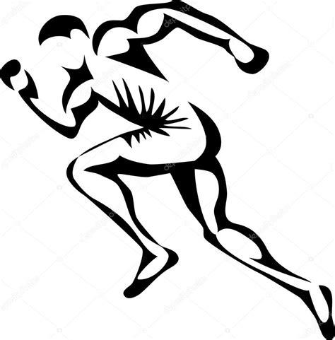 clipart uomo uomo corre o sprinter vettoriali stock 169 bokononist